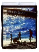 Evening At The Beach Duvet Cover by Stephen Anderson