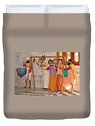 Evening Bells At The Temple Duvet Cover