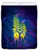 Aloe Flowers Duvet Cover