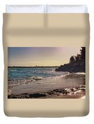 Evening By The Beach Duvet Cover