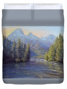 Evening Calm, Taggart Lake Duvet Cover