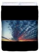 Evening Sky In Kansas Duvet Cover