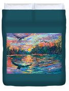 Evening Flight Duvet Cover