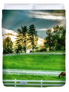 Evening Graze In Tennessee Duvet Cover