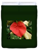 Evening Hau Tree Leaves Duvet Cover