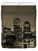 Evening In Boston Duvet Cover
