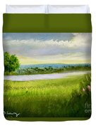 Evening In Calm Duvet Cover