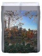 Evening In Central Park Duvet Cover