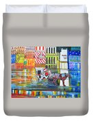 Evening In New York Duvet Cover