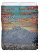 Evening In The Desert Duvet Cover