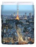 evening in Tokyo Duvet Cover