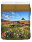 Evening Light At North Table Mountain Duvet Cover