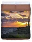 Evening Lighthouse Duvet Cover
