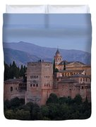 Evening Lights At The Alhambra Duvet Cover