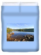 Evening On Cedar Lagoon Pine Lake Duvet Cover