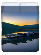 Evening On Lake Mcdonald Duvet Cover