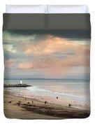 Evening On Seabright Beach Duvet Cover