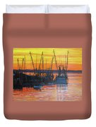Evening On Shem Creek Duvet Cover