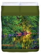 Evening On The Humber River - Paint Duvet Cover