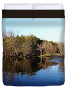 Evening On The Speed River Duvet Cover