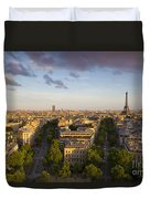 Evening Over Paris Duvet Cover