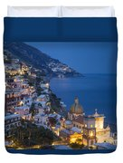 Evening Over Positano Duvet Cover