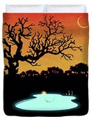 Evening Pool Duvet Cover