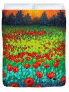 Evening Poppies Duvet Cover