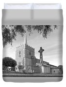 Evening Prayers In Black And White Duvet Cover