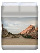 Evening Rocks By Mike-hope Duvet Cover