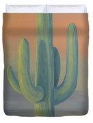 Evening Saguaro Duvet Cover