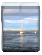 Evening Sail In Frenchman's Bay Duvet Cover