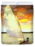 Evening Sail  Duvet Cover