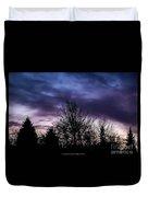 Evening Silhouettes  Duvet Cover