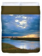 Evening Sky Over Hatches Harbor, Provincetown Duvet Cover