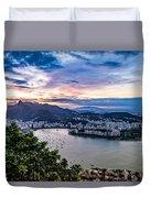Evening Sky Over Rio De Janeiro Duvet Cover