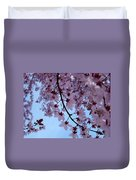 Evening Sky Pink Blossoms Art Prints Canvas Spring Baslee Troutman Duvet Cover