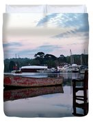 Evening Spring Tide In Mylor Bridge Duvet Cover