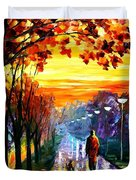 Evening Stroll Duvet Cover
