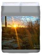 Evening Sun Rays In The Desert Duvet Cover