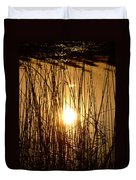 Evening Sunset Over Water Duvet Cover