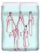 Evening Wear, 1956 Duvet Cover