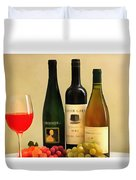 Evening Wine Display Duvet Cover