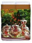 Event - Tea Garden Party Silver Sevice Duvet Cover