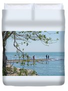 Ever-changing Pelee Duvet Cover