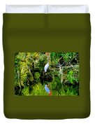 Everglades Egret Duvet Cover
