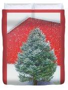 Evergreen In Winter #1 Duvet Cover