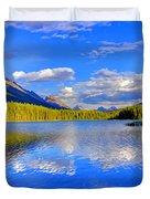 Evergreen Lake Duvet Cover
