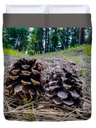 Evergreen Pinecones Duvet Cover
