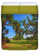 Evergreen Plantation Duvet Cover